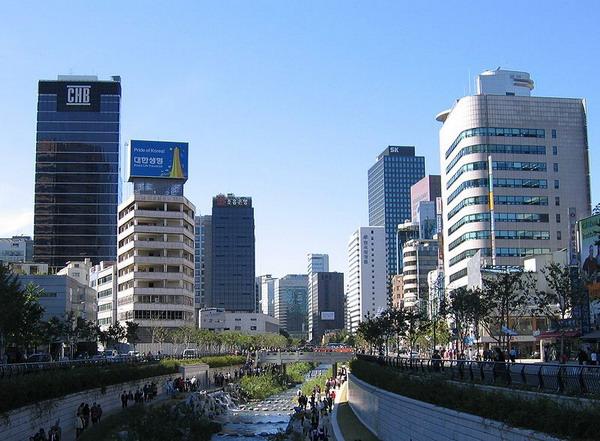 韩国清溪川