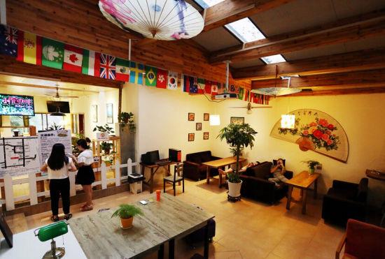 长沙国际青年旅舍大厅