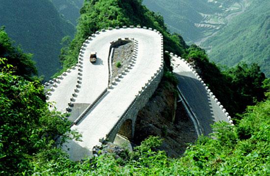 张家界最具代表性的自然景观——天门山天门洞