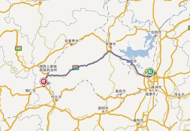 长沙到凤凰古城多少公里?长沙到凤凰古城自驾车路线