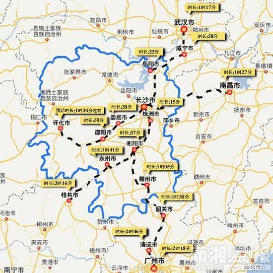 沪昆高铁通车 打造长沙1小时高铁交通