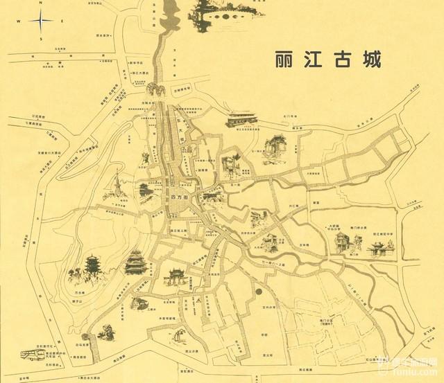 丽江古城(大研古城)地图