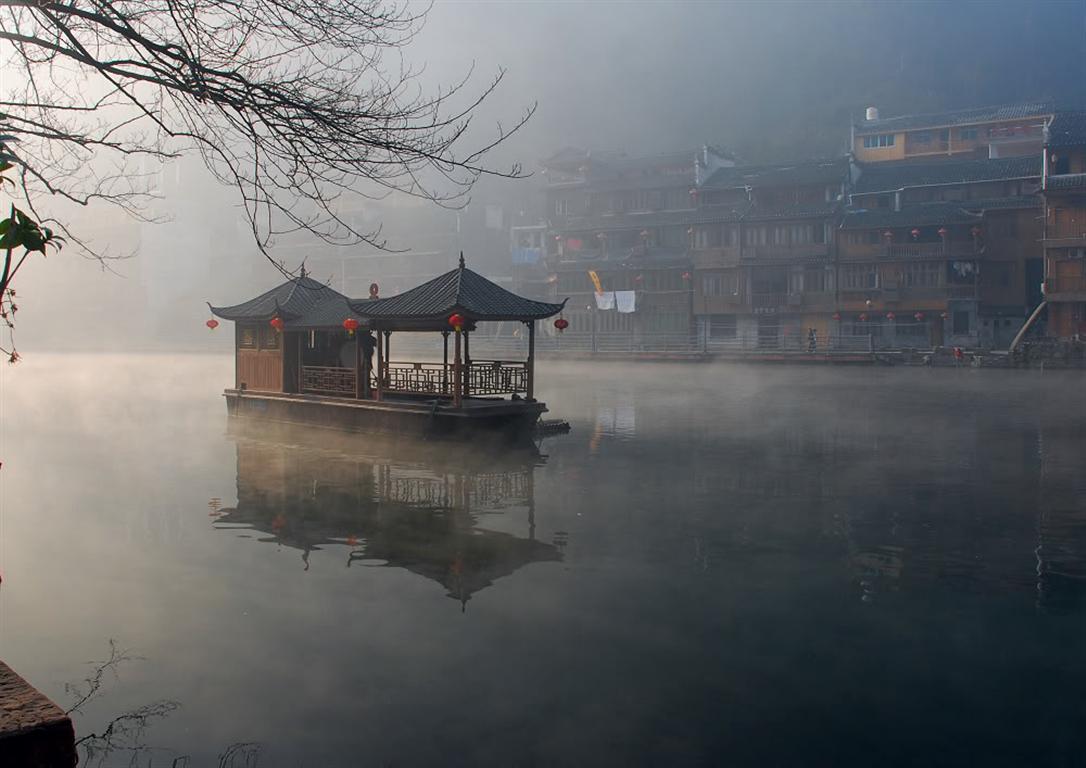凤凰古城冬天