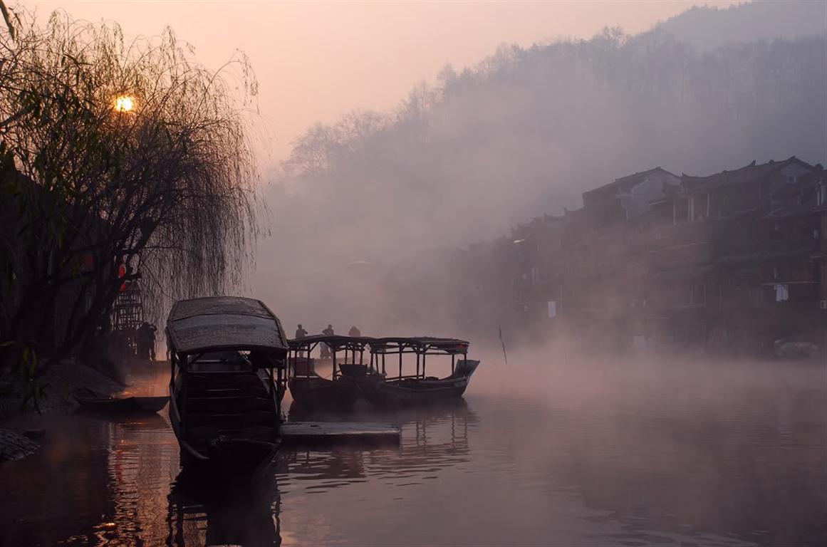 凤凰古城雪景