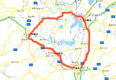 洞庭湖地理位置图