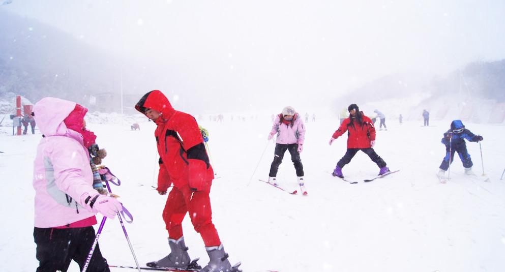 长沙到浏阳大围山野外滑雪场一日游(株洲/湘潭/浏阳发车.含大