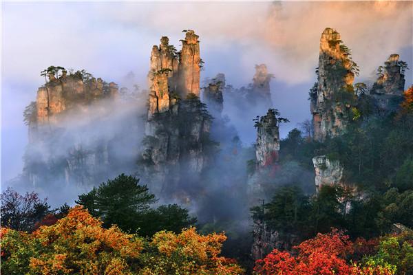 张家界核心景区武陵源(张家界国家森林公园)天子山