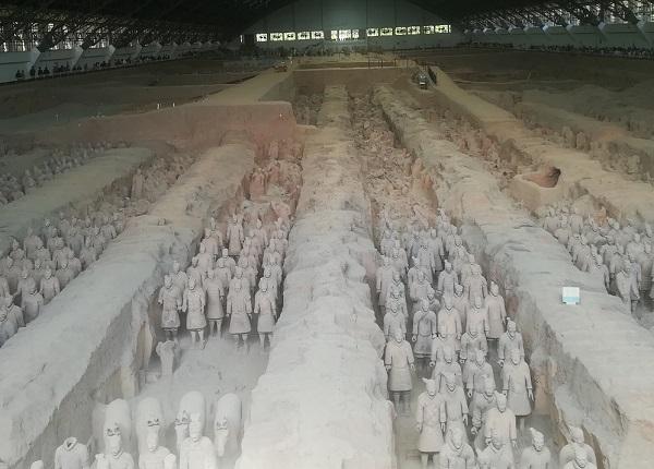 长沙到陕西西安兵马俑-乾陵-法门寺-大明宫高铁/飞机6日游/火车