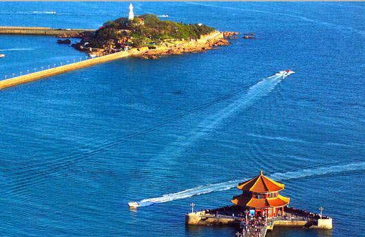 从长沙到青岛-威海-招远-烟台-旅顺-大连双飞6日游纯玩旅游团