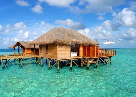 长沙到马尔代夫天堂岛(2晚沙屋+2晚水屋)自由行6天度假蜜月旅游