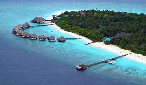 长沙到马尔代夫白金岛(4晚沙滩别墅一价全含)自由行直航六日游蜜月度假旅游