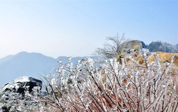 南岳衡山雾凇美景宛如仙境 观赏南岳冰雪雾凇美景