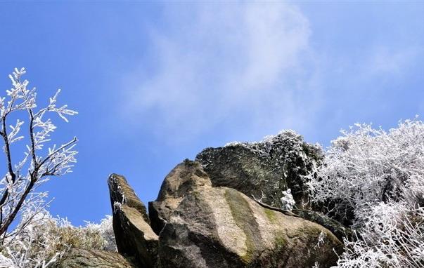 南岳衡山雾凇美景
