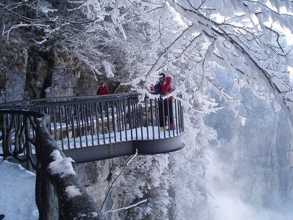 张家界天门山雪景