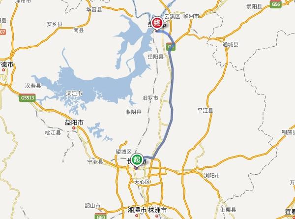 长沙到岳阳多少公里?要几个小时_长沙到岳阳自驾车路线