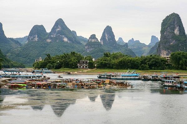 【魅力桂林】长沙到桂林兴坪漓江、刘三姐大观园、象鼻山、穿