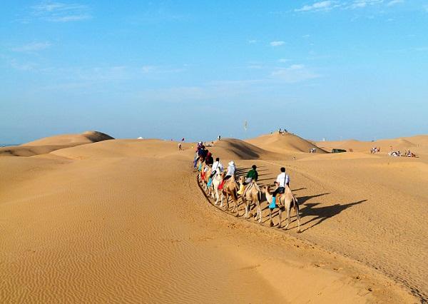 长沙到内蒙古大草原、响沙湾、鄂尔多斯双飞四日游自组旅游团