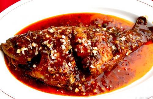 重庆磁器口古镇美食,豆瓣鱼
