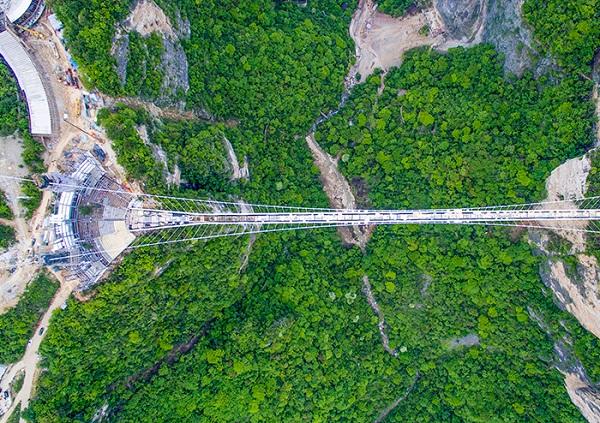 G4线长沙到张家界大峡谷玻璃桥、张家界国家森林公园、矮寨大