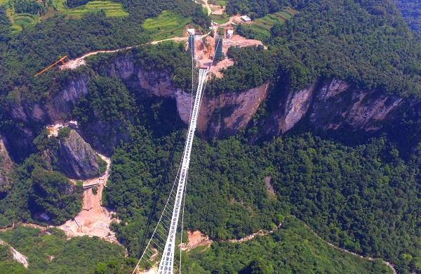F3线长沙到张家界大峡谷玻璃桥、天门山玻璃栈道、矮寨大桥、