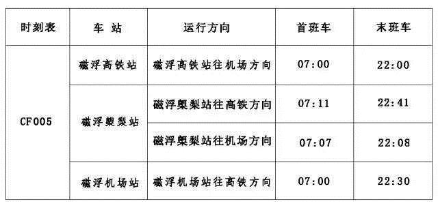 2019长沙磁浮快线时刻表,长沙南站磁悬浮时刻表,长沙黄花机场磁悬浮时刻表