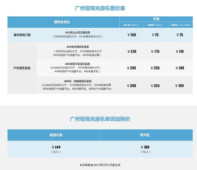 2020广州塔门票多少钱一张?广州塔门票价格老人/小孩/学生优惠